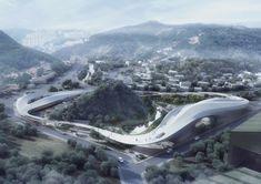 CAA's futuristic cloud-shaped proposal in Korea — Architecture For Future - Architecture Urbanism Interior Art Technology Futuristic Architecture, Landscape Architecture, Landscape Design, Architecture Design, Concept Architecture, Chief Architect, Landscape Diagram, Commercial Complex, Landscaping