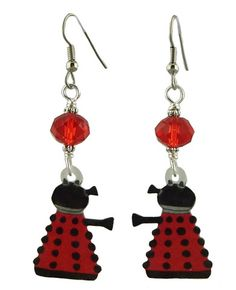 Unique Creations — Dalek Earrings,  Dr. Who Inspired Jewelry