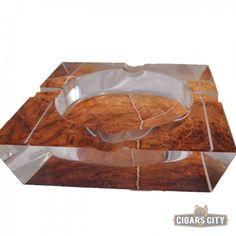 Tobacco Leaf Crystal Cigar Ashtray for Sale