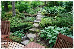 Mökkipuutarhassa Garden Bridge, Stepping Stones, Outdoor Structures, Landscape, Outdoor Decor, Home Decor, Homemade Home Decor, Interior Design, Home Interiors