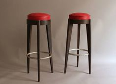 Pair of French Art Deco Stools | From a unique collection of antique and modern stools at https://www.1stdibs.com/furniture/seating/stools/