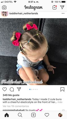 You are in the right place about toddler hairstyles girl beads Here we offer you the most beautiful Toddler Hair Dos, Easy Toddler Hairstyles, Easy Little Girl Hairstyles, Baby Girl Hairstyles, Cute Hairstyles, Baliage Hair, Girls Hairdos, Cute Buns, Cute Little Girls