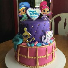 Second Birthday Ideas, Little Girl Birthday, 3rd Birthday Parties, Birthday Diy, Shimmer And Shine Cake, Candy Birthday Cakes, Kids Party Themes, Party Ideas, Cupcakes