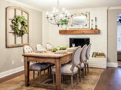 Farmhouse Chic Dinin