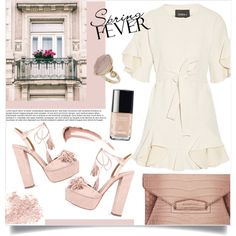 Romantic&sweet: ruffles! by anchilly23 on Polyvore featuring polyvore, fashion, style, Goen.J, Aquazzura, Givenchy, Topshop, Bare Escentuals, Chanel and clothing