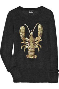 Lobster merino wool sweater  by Markus Lupfer #JoesCrabShack #Lobster #LobsterFashion