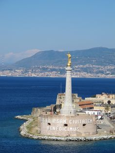 Messina, Italy , Lou and I were sitting in a hot tub overhanging the ship as we left and saw this , way cool!