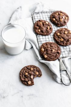 Chewy Chocolate Peanut Butter Chip Cookies (makes 12)