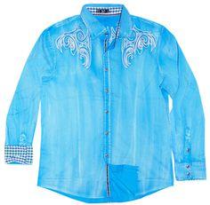 Toku Clothing Sky Tribal Embroidery Shirt