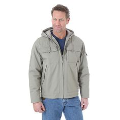 Wrangler Men's Riggs Workwear Hooded Ranger Jacket (Size: Medium) Khaki