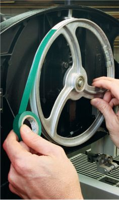 How to Use Masking and Electrical Tape to Quick Fix Your Bandsaw Tire. Rockler.com