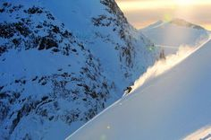 A perfect line. #skiing #snow #mountains on SkiMag.com.