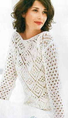 Knitting - openwork pullover