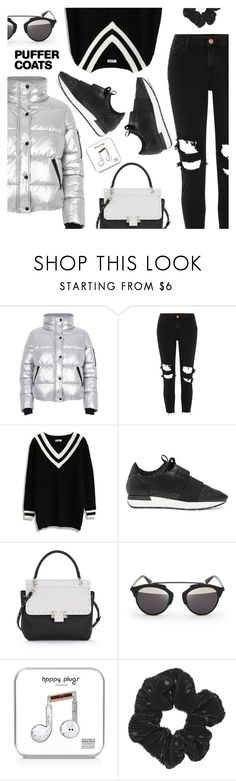 """Stay Warm: Puffer Coats"" by dressedbyrose ❤ liked on Polyvore featuring River Island, Chicwish, Balenciaga, Lanvin, Christian Dior, Happy Plugs, StreetStyle, ootd, polyvoreeditorial and puffercoats"