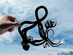 Octopus Ampersand Handmade Original Paper Cut by DreamPapercut