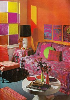 colorful bohemian living space