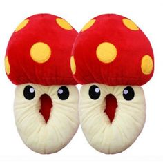 $22.59  Cute Mushrooms Cartoon Animal Cotton Feet Slippers