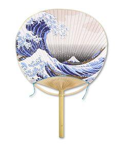 Marugame Uchiwa Fan  Fuufu Hokusai's Wave #japan #kagawa