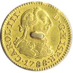 Moneda de oro 1/2 escudo Carlos III 1788 Madrid M.