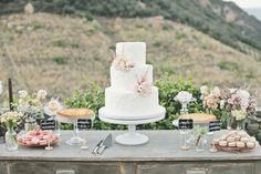 Rustic Wedding cake table Look @Hannah Mestel Mestel Mestel Lawler people are pinning your wedding!!!!!!!!!!