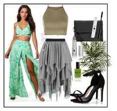 """""""Tulle skirt"""" by greensparkle1 ❤ liked on Polyvore featuring Boohoo, Nearly Natural and Lauren B. Beauty"""