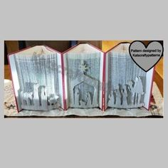 Book Folding Patterns, Pattern Books, Pattern Art, Create Your Own Book, Bee Book, Origami Patterns, Folded Book Art, Book Sculpture, Alphabet Book