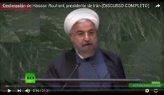 EN VIVO: La Asamblea General de la ONU (Día 2) Declaracion de Iran ante la ONU Los mandatarios internacionales se reúnen en la sede de la ONU en Nueva York para discutir los principales problemas de la actualidad internacional.