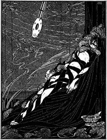 "Harry Clarke (March 17, 1889 – January 6, 1931) was an Irish stained glass artist and book illustrator. Born in Dublin, he was a leading figure in the Irish Arts and Crafts Movement. Clarke's illustration for Edgar Allan Poe's ""The Pit and the Pendulum""."