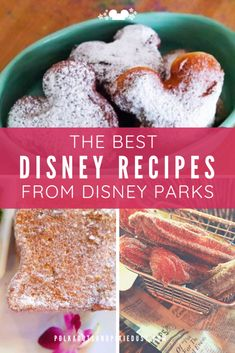 The Best Disney Recipes from Disney Parks. These official favorites come from Disney Parks Blog complete with printable! From Tonga Toast to Grilled Cheese. Here are the Best Disney Recipes to make at home. #disneyparks #disneyrecipes #polkadotpixies Disney Snacks, Disney Food, Disney Recipes, Snacks To Make, Food To Make, Apple Pie Recipes, Cat Recipes, Canadian Dishes, Grilled Bananas