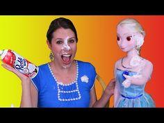 Frozen Kristoff Jr GIRLFRIEND ❤ Princess Anna's Family Eat At Barbie Burger King Elsa Ariel Mermaid - YouTube