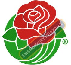 Rose flower embroidery designs