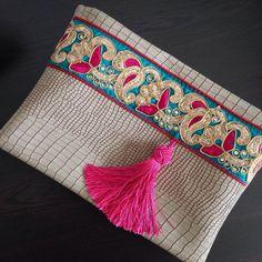 Imitación de cuero embrague embrague de moda por BOHOCHICBYDAMLA