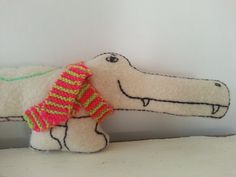 Crocodile soft toy by madebyswimmer on Etsy, £20.00