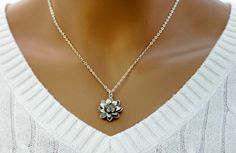 Hey, I found this really awesome Etsy listing at https://www.etsy.com/listing/110807659/lotus-necklace-silver-flower-necklace