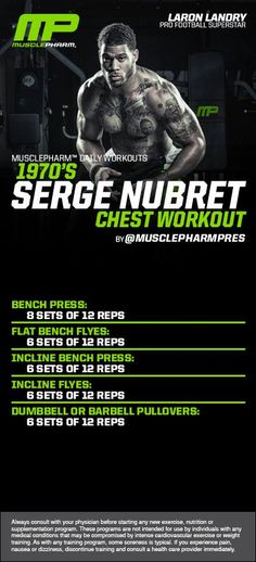 Chest Workout:  looks awesome!