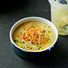 Silky celeriac soup recipe from The Medicinal Chef: Healthy Every Day by Dale Pinnock Vegetable Recipes, Vegetarian Recipes, Cooking Recipes, Healthy Recipes, Veggie Food, Celeriac Soup Recipes, Lunch Restaurants, Good Food, Yummy Food