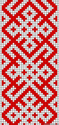 Abstract Design Perler Bead Pattern