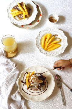 Mango french toast served with delicious coconut ice cream is a fabulous way to make your ordinary mornings feel a little