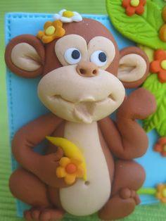 Cute fondant monkey