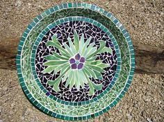 Mosaic Glass And Tile Bird Bath - by Glass Gardener