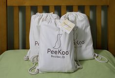 The PeeKoo is an integrated bedding system that combines a duvet cover and flat sheet.