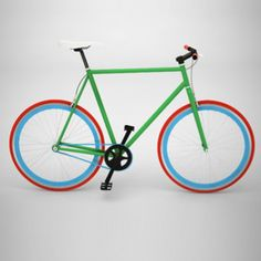 Bike Medium Green, Red And Blue now featured on Fab.   This should make you smile while you ride :)