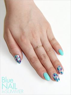 oriental nails | summer nails | turquoise color