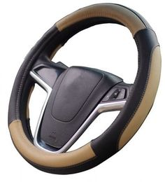 Mayco Bell Car Steering Wheel Cover 15 inch No Smell Comfort Durability Safety (Black Beige) Car Steering Wheel Cover, Steering Wheels, Chevrolet Traverse, Chevrolet Silverado, Good Grips, Luxury Cars, Leather, Top, March