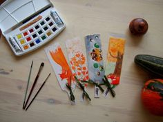 #bookmarks #watercolor #art #autumn Bookmarks, Watercolor Art, Hand Drawn, How To Draw Hands, Triangle, Hand Painted, Autumn, Handmade, Hand Made