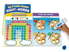 Dot & Learn! Sight-Words Journal: Children fill in the dots to match up sight-words, complete sight-word sentences and more—using fun dot markers to learn 50 different words.
