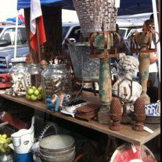 Flea market at Long Beach Veteran's  Stadium...Love  # Atelier de Campagne!   check out their blog :)