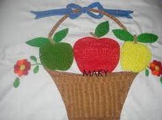 Image result for canastas de frutas bordadas