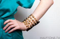 Champagne Pearl & Crystal Wrist Wallet CUF Wallet - Wristband Bracelet Pocket for Women (DIY Inspiration)