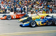 ~ Front Row 1970 Indy 500 ~ ~   ¤ Unser, Rutherford, Foyt ¤